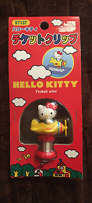 Vintage Sanrio Hello Kitty 2001 Ticket Clip