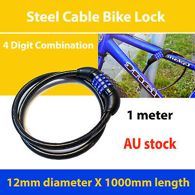 Comination Bike Bicycle  Cable Lock  4 Digit code Password  Cycling