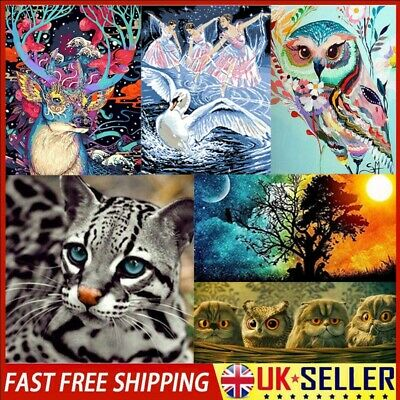 5D DIY Diamond Painting Animal Cross Stitch Hand Embroidery Art Decor Crafts Kit