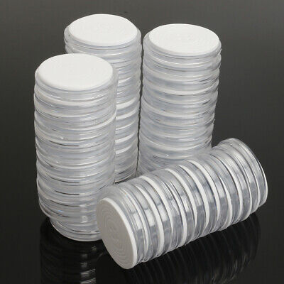 50Pcs Capsules Coin Holders Case Plastic Storage Adjustable for 19 24 29 34mm ❤