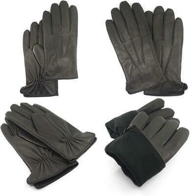 Ariston Blue Genuine Nappa Lambskin Leather Driving Gloves With Cashmere Lining