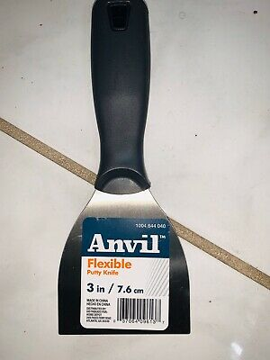 "ANVIL Flexible Putty Knife 3"" Carbon Steel Drywall Joint Paint Scraper"
