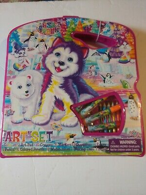 Lisa Frank Art Kit in Case NEW LARGE Paint Sketch Color Draw