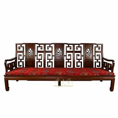 Vintage Chinese Rosewood Carved Sofa/Long Bench