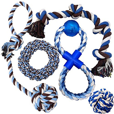 Otterly Pets Puppy Dog Pet Rope Toys - Medium to Large Dogs 5-Pack