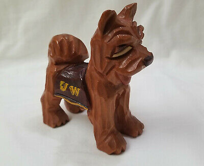 Carter Hoffman Original WASHINGTON HUSKIES Vintage HAND CARVED MASCOT 1950's
