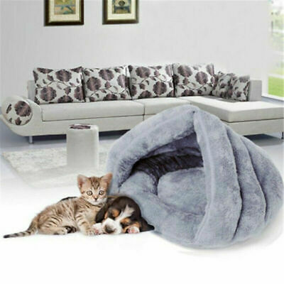 Cat Dog House Kennel Puppy Cave Sleeping Bed Soft Warm Comfort Mat Pad US STOCK