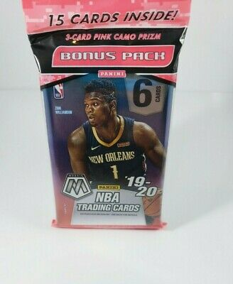 2019-20 Panini Mosaic Basketball CELLO PACK PINK CAMO PRIZM BRAND NEW SEALED