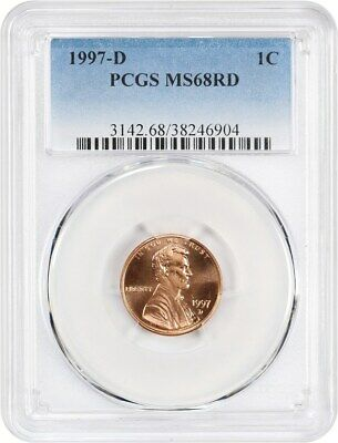 1997-D 1c PCGS MS68 RD - Lincoln Memorial Small Cents (1959-2008)