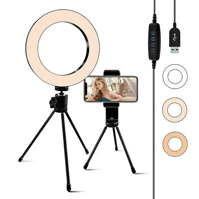 Studio LED Ring Light With Stand Dimmable Photo Video Makeup Lighting Lamp Kit