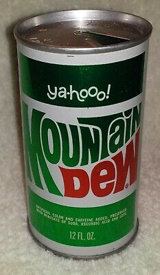 "Vintage Mountain Dew ""ya-hooo!"" Tin Can c1960's Baltimore, Md."