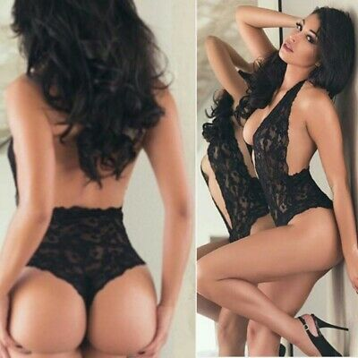 Ladies Girl Sexy Lingerie Sleepwear Lace Teddy G-string Dress Babydoll Nightwear