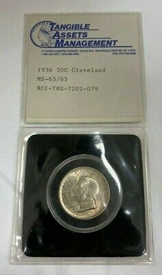 1936 Cleveland-Great Lakes Silver Commemorative Half Dollar
