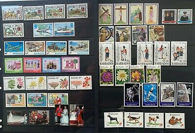 Barbados, 14 sets of Mint Stamps (MH) 1990's Onward