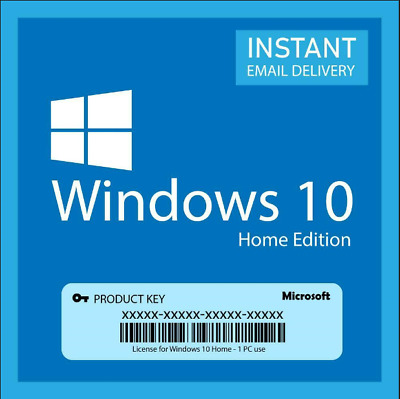 Microsoft Windows 10 Home Retail 32/64 Bit Licence Activation Code Genuine Key