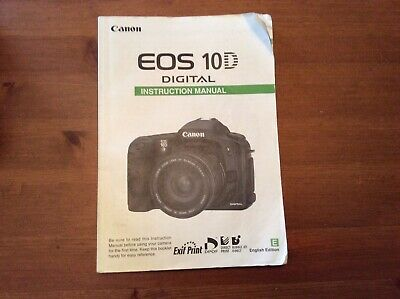 Canon Eos 10D Users Instructing Manual Guide