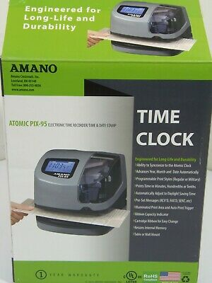 Amano Atomic PIX-95 Time Clock Time Recorder RoHS Compliant