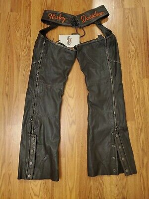 Harley Davidson Chaps Paxton Leather Womens Size Medium Limited Edition $320