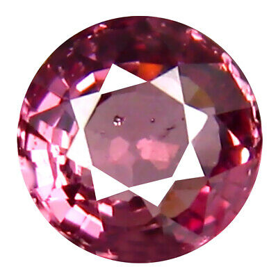 0.74 CT AAA + Exceptionnelle Forme Ronde (5 X 5 MM ) Rose Malaya Gemme Grenat