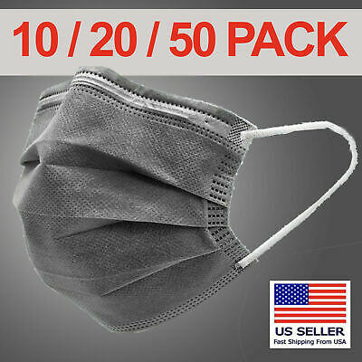 10 20 50 Pcs / Pack Protective Gray Face Mask - Fast Shipping from USA