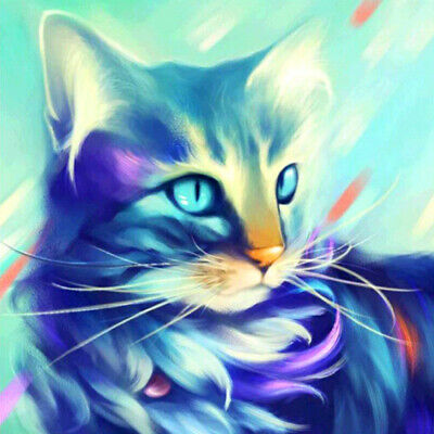 5D Diamond Painting Full Kits Cat Butterfly Crystal Pictures Arts Craft Wall