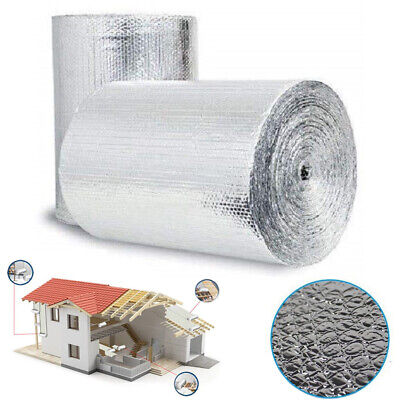 Double Aluminium Bubble Foil Insulation Roll Wrap Loft Caravan Home Shed 6㎡-60㎡