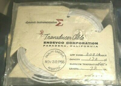 NEW 170pf ENDEVCO 3091A-72 TRANSDUCER CABLE