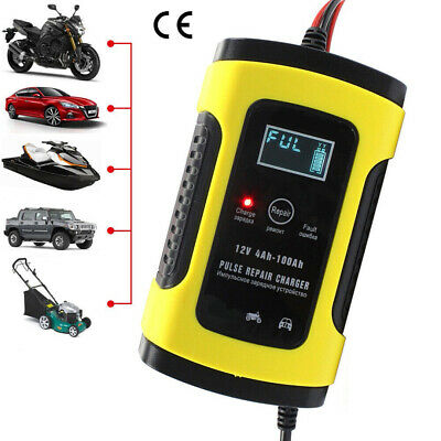 12V 6A Intelligent Pulse Repair LCD Car Automobile Motorcycle Battery Charger K