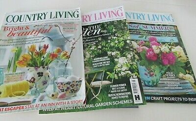 Country Living Magazine April, May & June 2017 Issues