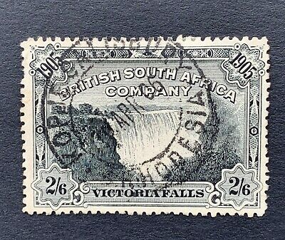 British South Africa Company, 1905 Victoria Fall Used 2/6d Black Stamp (SG98)