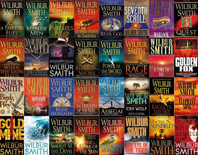 Wilbur Smith 32 Audiobooks Collection Unabridged (MP3)📧⚡Email Delivery(10s)⚡📧