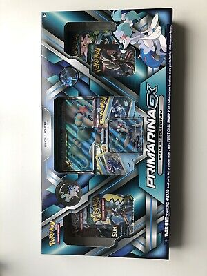 Pokemon primarina GX Premium Collection Brand New And Sealed Box Booster packs