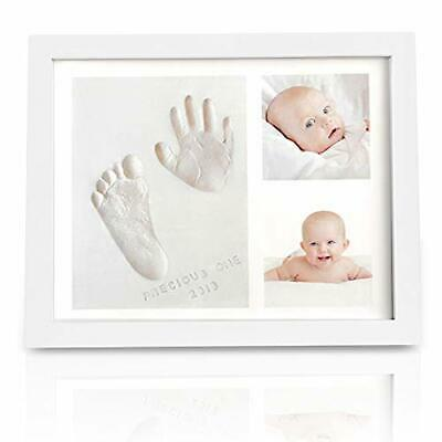 Baby Handprint Footprint Keepsake Kit - Baby Prints Photo Frame (Alpine White)