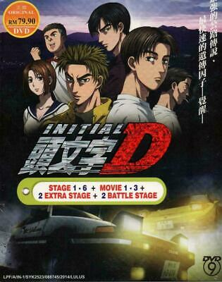 Anime DVD Initial D Stage 1-6 + Movie 1-3 + 2 Extra Stage + 2 Battle Stage