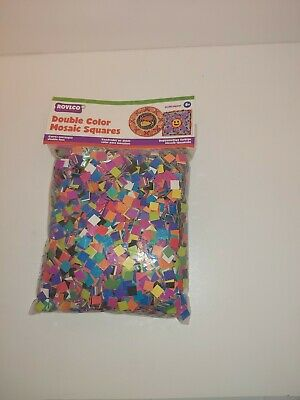 Roylco Double Color Mosaic Squares, Pack Of 10000 Squares 15630