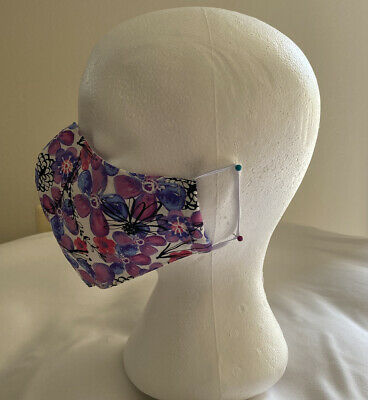 Adult face mask, Cotton Filter Pocket Handmade In USA washable.