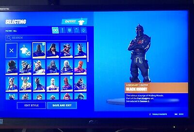 Compte Fortnite Chevalier Noir / Mako Glider - Raffle! - Ticket! - Giveaway! -