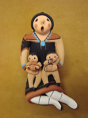 Jemez Pueblo Indian Handmade Clay Storyteller by J. Lucero