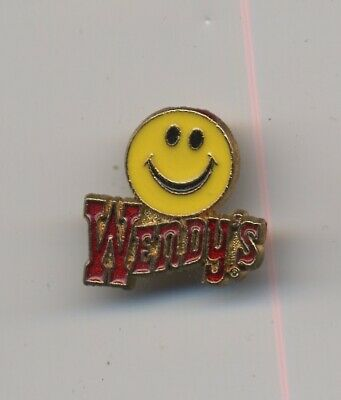 Vintage Wendy's Fast Food Lapel Pin - Smiley Face