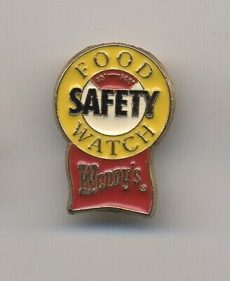 Vintage Wendy's Fast Food Lapel Pin - Food Safety Watch