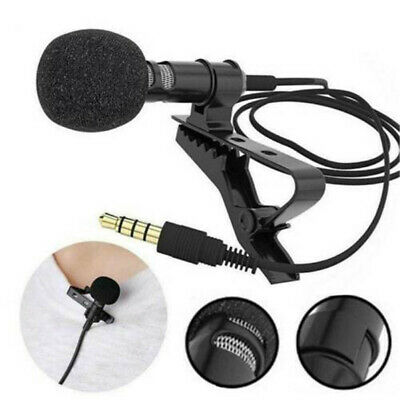 Lavalier Lapel Microphone Clip-on Omnidirectional Condenser For Laptop Computer