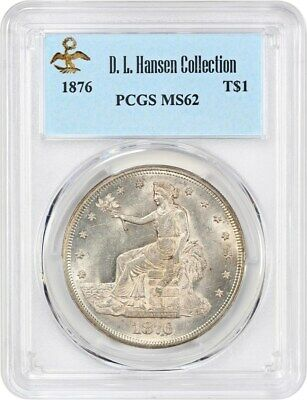 1876 Trade$ PCGS MS62 ex: D.L. Hansen - Nice Type Coin - US Trade Dollar