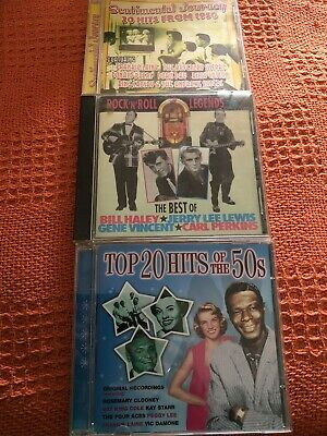3 Cds - Rock'n'Roll Legends/Sentimental Journey/Top 20 Hits Of The 50s
