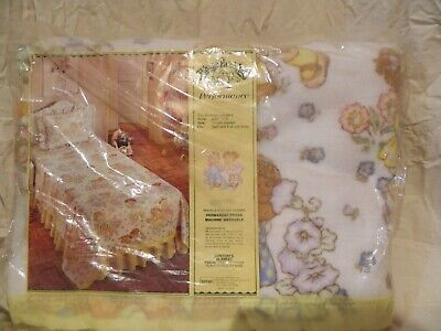 Vtg Cabbage Patch Springs twin/full blanket deadstock 72 x 90