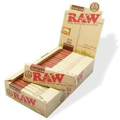 24 Packs Raw Organic Hemp 1 1/4 Natural Unrefined Rolling Papers Buy 10get 1free