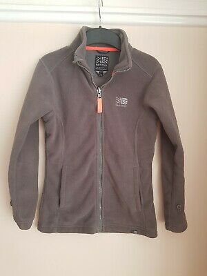 Karrimor Fleece Coat Jacket Light Grey Super Soft Feel Age 9-10 Years