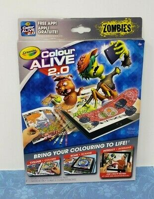 Zombies Crayola Colour Alive 2.0 Interactive Colouring Kit Children Kids