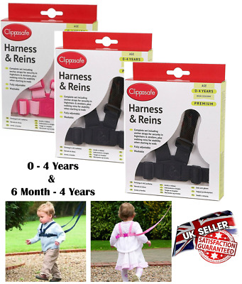 Harness & Reins Age 0-4 Clippasafe Baby, Child Toddler Walking Safety Adjustable