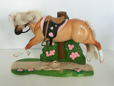 Grand Champion Toy Horse Triple Action Stallion American Cream Galloping Action