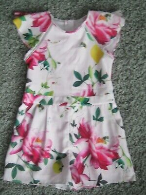 Ted Baker Debenhams Girls Play Suit Dress Shorts Age 8 Years Bold Floral Design